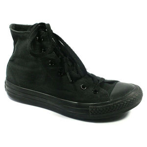 Converse Womens All Star High Top Black Sneakers 8